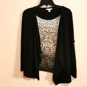 Nice combo top and cardigan in one size S